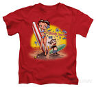 Juvenile: Betty Boop - Surf Apparel Kids T-Shirt - Red $14.99 USD on eBay