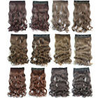 45cm/17.7'' long One Piece curl curly wavy hair extension extensions clip on in