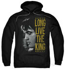 Hoodie: Elvis Presley - Long Live The King Apparel Pullover Hoodie - Black