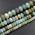 "Natural Faceted Multi-Color Amazonite Rondelle Beads 15.5"" Strand  6mm 8mm 10mm"