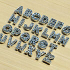 8mm A-Z Full Rhinestone Slide letters charms fit pet collar wristband belt