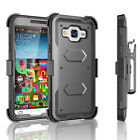 For Samsung Galaxy Sky / J3 Clip Holster Case Cover W/Built-in Screen Protector