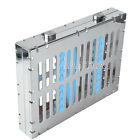 New 1 Set Dental Sterilization Cassette Stainless Steel 10 Instruments Tray Blue