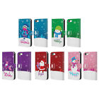 HEAD CASE DESIGNS CHRISTMAS TIDINGS LEATHER BOOK WALLET CASE FOR APPLE iPHONE 5C
