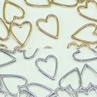 Heart Metal Beads Pendants Gold Silver beads for Jewelry Making Supplies #243