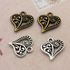 Wholesale 20/50/100pcs Hollow Out Heart Retro Charm Pendant DIY Jewelry Findings