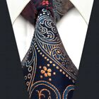 B26 Paisley Multicolor Blue Necktie Men's Ties 100% Silk New Extra Long 63""