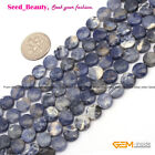 "Natural Gemstone Loose Beads For Jewelry Making 15"" Coin Jewelry Beads in Lots"