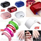 36/45W LED Light Lamp UV Nail Dryer Curing CCFL Gel Gelish Timer Acrylic Polish
