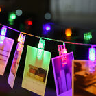 10/20 LED Photo Clip Fairy Light Decorative Battery Power Hanging String Lights