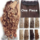 Extra THICK Clip In Hair Extensions Full Head curly straight 1piece as human g98
