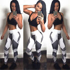 NEW Womens Yoga Workout Gym Leggings Fitness Sports Trouser Athletic Pants US