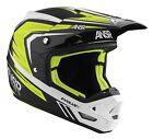 ANSWER RACING EVOLVE 3 BLACK WHITE HI-VIS RACE MX MOTOCROSS HELMET MENS ADULT