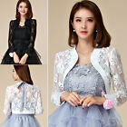 women lace Shrug Bolero Jacket long sleeve Cardigan blouse top for evening dress