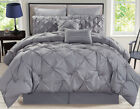 8 Piece Rochelle Pinched Pleat Comforter Set image
