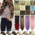 """Long NEW 8 Piece Clip in Hair Extensions Full Head24-30"""" Ombre Hair as Human Th1"""