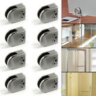 8 or 4 X Stainless Steel Glass Clamp Bracket Holder Window Balustrade Staircase