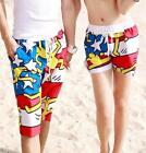 Unisex Women Men Lace Up Shorts Trunk Crazy Running Swimming Shorts L XL 2XL