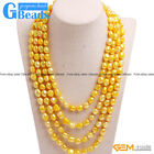 "Handmade 8-9mm Cultured Freshwater Pearl Super Long Necklace For Women 80"" GB"