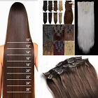 8Piece/Set Pro Long Clip in Hair Extensions Full Head Hair extension Brown Black