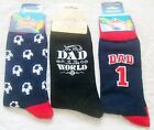 Mens Best Dad in the World / Team Dad Socks (Ideal Gift)  One Size  New