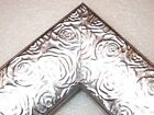 "2.3"" Aged Metallic Silver Rose Ornate Wood Canvas Picture Fr-Custom Square Sizes"