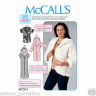 McCall's 7511 Sewing Pattern to MAKE' Open-Front Jackets w/Shawl Collar & Hood