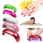 9W Rainbow Women UV LED Nail Care Lamp Dryer Light for Gel Polish Nail Art