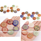 7 Chakra Round Gemstones Reiki Healing Ornaments Home Office Decorations Jewelry