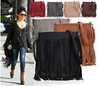 LADIES NEW CELEBRITY STYLE CHIC BAG TASSEL SHOULDER BAG FRINGE BAG HANDBAG