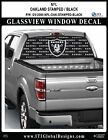 OAKLAND RAIDERS - STAMPED BLACK Window Wrap / Truck Car SUV Decal Sticker NFL