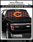 CHICAGO BEARS - STAMPED BLUE Window Wrap / Truck Car SUV Decal Sticker NFL