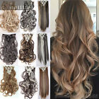 100% Real Thick Clip In Hair Extensions Long Wavy Full Head Hair Extentions sn51