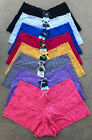LOT of 6 or 12 LADIES WOMEN LINGERIE FLORAL BOYSHORTS LACE FASHION PANTIES S-XL