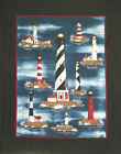 NAUTICAL themed large PANEL : LIGHTHOUSE : 90X105cm : 100% cotton fabric