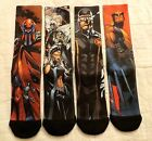 X-Men Sublimated Men's Crew Socks New Size 10-13