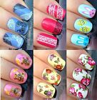 NAIL ART STICKERS WATER TRANSFERS FLOWERS BUTTERFLY LACE TEDDY BEAR EASTER BUNNY