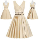 Short V Neck Bridesmaid Evening Formal Party Cocktail Dress Prom Ball Gown New