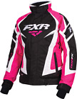 Team Women's Black/Fuchsia/White FXR F.A.S.T. Snowmobile Jacket, 170208-1090_