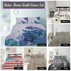 Quilt / Duvet Cover Set Signature Vintage by Retro Home SINGLE DOUBLE QUEEN KING