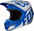 NEW 2017 FOX RACING MENS ADULT MX ATV MOTO X RIDING BLUE WHITE V1 RACE HELMET