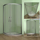 Aica Offset Walk In Quadrant Shower Enclosure Corner Cubicle 6mm Glass Door Tray