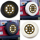Boston Bruins NHL Exact Fit Size Black or White Vinyl Spare Tire Cover