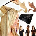 Au Long Real Straight Curly Wire Headband Clip In Hair Extensions As Human TK6