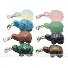 Chic Carved Mini Tortoise Crystal Gemstone Pendant Fit for Necklace Jewelry Gift