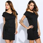 Women Short Sleeve Party Cocktail Evening Bodycon Summer Sexy Mini Dress