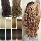 Real Thick Clip In Hair Extensions Straight Full Head as Human Hair Extention LB