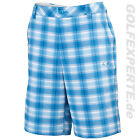 PUMA GOLF HERREN SHORTS MEN'S dry CELL BLUR PLAID TECH WHITE-BLUEASTER-MONACOBLU