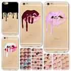 Lipstick Sexy Flaming lips Case Cover for iPhone 7 7plus 6 6s plus Ultra Clear