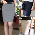 Women's Lady High Waist Career Knee Length Short Skirts Business OL Pencil Skirt
